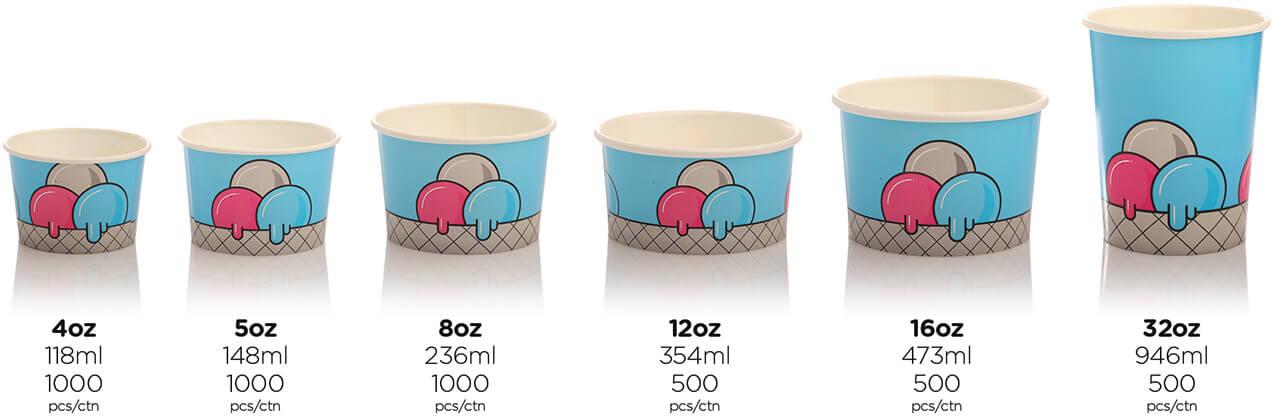 66 Ice Cream Tubs