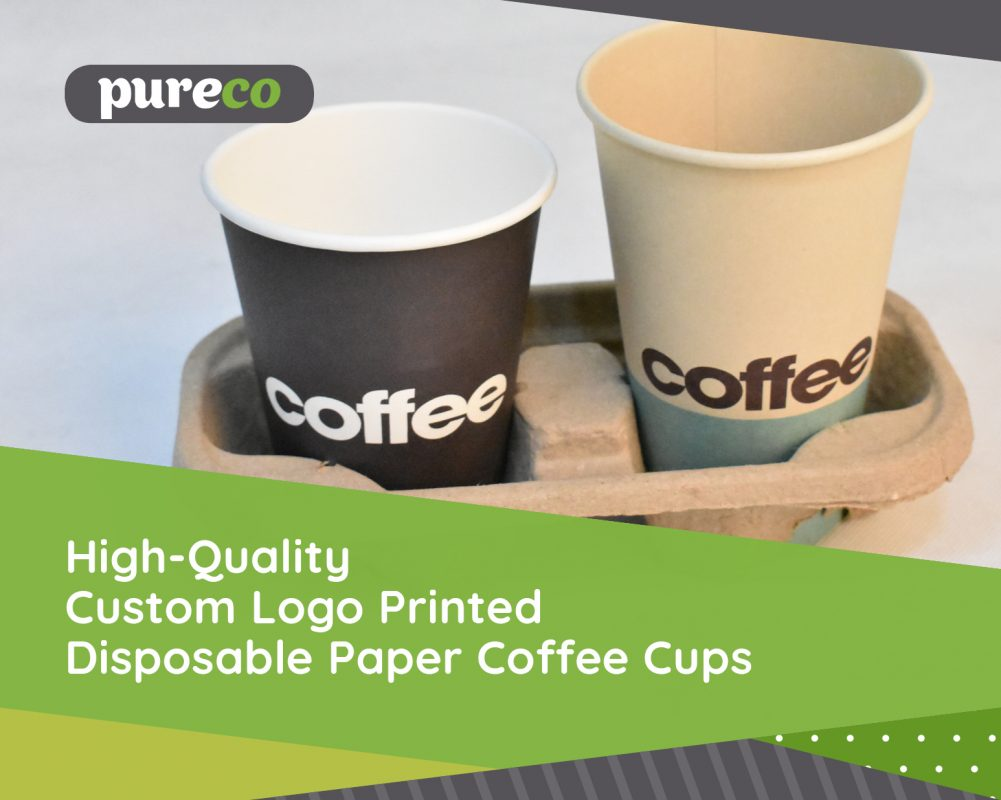 high quality custom logo printed disposable paper coffee cups